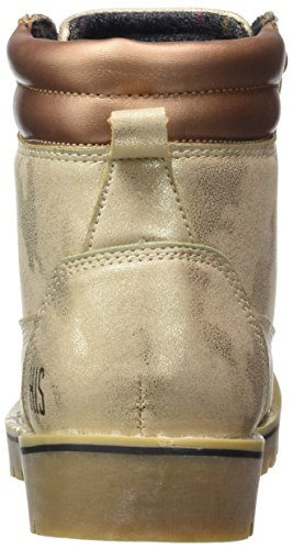 HIS 16we0009, Bottes Rangers Femme Gold (Gold Metallic)