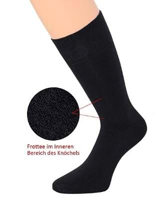 Herrensocken schwarz Businesssocken schwarz Baumwollsocken schwarz leicht sortierbar 43-46 39-42 , 3 Paar (39-42, NEUHEIT: Knöchelpolsterung)