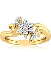18Kt Gold Rings 0.11 Carat Round Real Solitaire Diamond Rings Indian Jewelry For Womens (19)