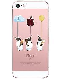Coque iPhone SE, Qissy® Ultra-Thin Coque pour Apple iPhone 5/5S Silicone Étui Housse Transparent Souple TPU Protecteur Exact Fit Soft Etui Coque Pour iPhone 5/5s 4.0'