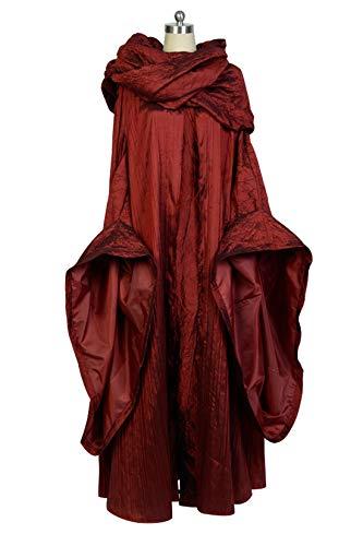 Melisandre Kostüm Halloween Cosplay Party Langes Kleid Damen