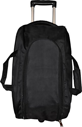 N Choice Black Solid Expandable Fabric Material Duffle Bag