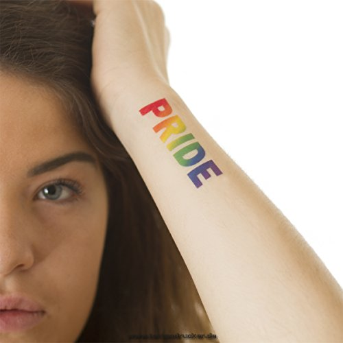 2 x 'Pride' tatuaje temporal como arco iris - LGBT Tattoo (2)