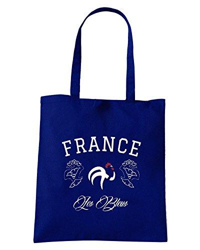 T-Shirtshock - Borsa Shopping WC0359 FRANCE NATIONAL TEAM FOOTBALL T-SHIRT Blu Navy