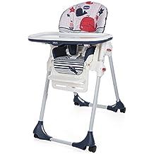 Chicco Polly Easy - Trona amplia, compacta y sencilla, 4 ruedas, para niños de 0 a 3 años, color azul o verde