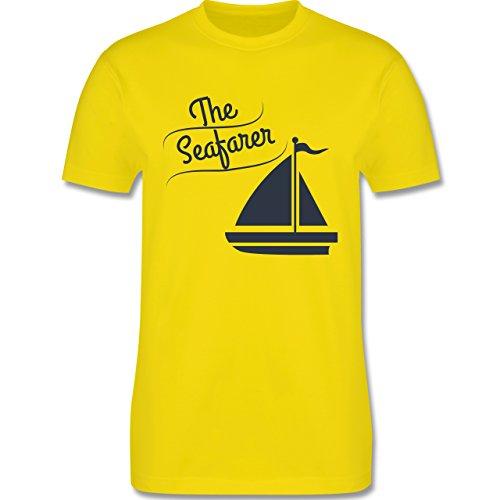 Schiffe - The Seafarer Segelboot - Herren Premium T-Shirt Lemon Gelb