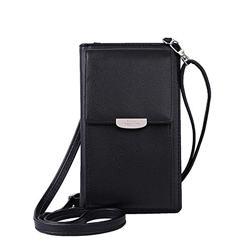 Handy Schultertasche, Handytasche Kleine Umhängetasche, Geldbeutel Geldbörse für Dame Mädchen Frauen, Portemonnaie Handyhülle Cross Body Bag Wallet for iPhone Samsung Huawei Telefon Under 5.5 Zoll
