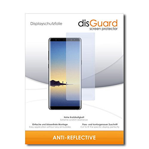 disGuard® Bildschirmschutzfolie [Anti-Reflex] kompatibel mit Samsung Galaxy Note 8 [3 Stück] Entspiegelnd, Matt, Antireflektierend, Extrem Kratzfest, Anti-Fingerabdruck - Panzerglas Folie, Schutzfolie
