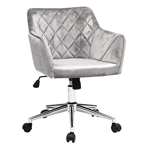 Jahrhundert Eitelkeit (CHANG XU DONG SHOP Einstellbare Velvet Computer Stuhl Moderne Akzent Drehstuhl Ergonomische Back Office Stuhl for Home Office Studie Wohnzimmer Eitelkeit Schlafzimmer (Color : Gray))
