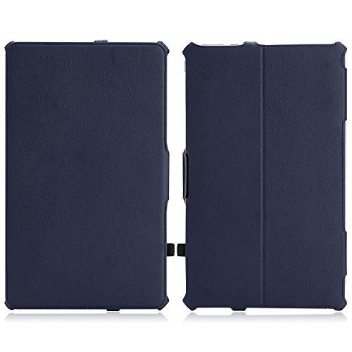 MoKo ASUS Transformer Book T300 Hülle Case - Slim-Fit PU Leder Schutzhülle Ledertasche Etui Tasche Smart Cover mit Standfunktion für ASUS T300 Chi 12.5 Zoll 2015 Version Windows 8.1 Tablet,Marineblau (Asu Transformer Book)
