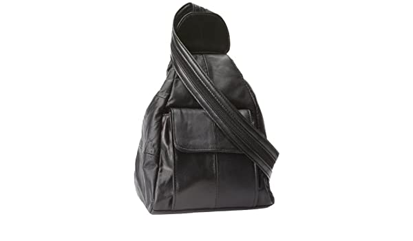 705d366d7e Embassy Lupurse17 Solid Genuine Leather Hobo Sling Backpack Purse   Amazon.in  Sports