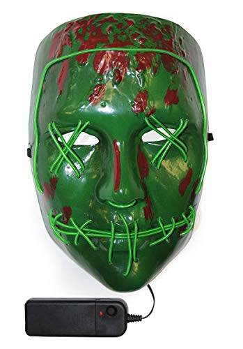 Escapade The Purge Statue of Liberty Maske EL Wire Film Horror Kostüm Zubehör