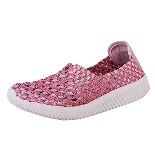LILIHOT Damenmode Nationalen Stil Tuch LäSsig Manuelle Hohl Atmungsaktive Schuhe Laufschuhe Fitness StraßEnlaufschuhe Sneaker Sportschuhe rutschfeste Mode Freizeitschuhe -