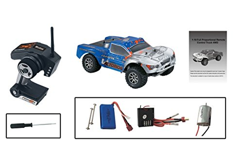 Rayline Funrace 01S-D - 1:18 Pro Short-Course Truck 4WD mit 1500 mAh LiPo Akku bis 70 km/h schnell - 5