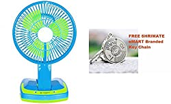 MSE NEW SUPER mini led light fan 5590 Powerful Rechargeable Fan with 21SMD LED lights ( Buy And Get 1 Pc Selfie Light Worth 349 Free )