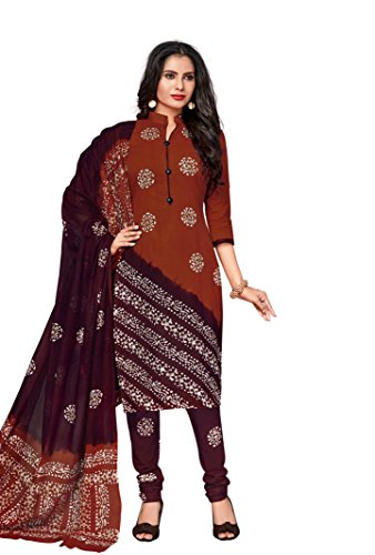 Vinay's Women's Cotton Unstitched Dress Material with Dupatta, Free Size (Muticolour, BatikQueen1711)