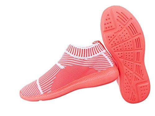 Damen Halbschuhe Schuhe Sportliche Slipper Flats Slip On Schwarz Orange Grün Türkis Pink Weiß 36 37 38 39 40 41 Coral