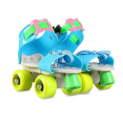 LWPCP Inline-Rollschuhe verstellbare Zweireihige Schlittschuhe Kinder 4 Rad Anfänger Kinder Jungen Mädchen Innen- und Außenrollschuhe Kleinkinder Geburtstagsgeschenk (26-36),7