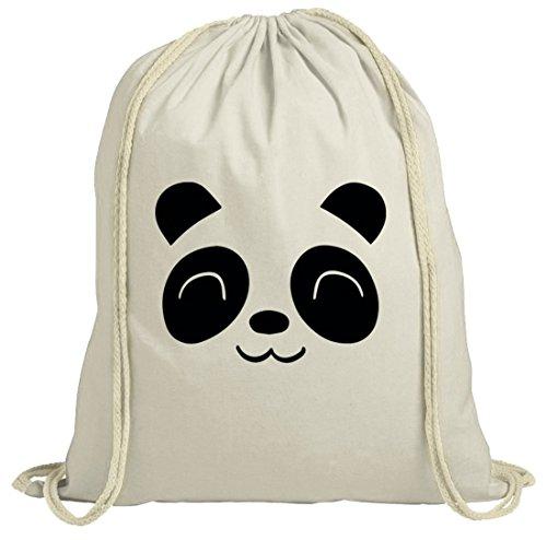 Tier natur Turnbeutel Cute Panda Natur
