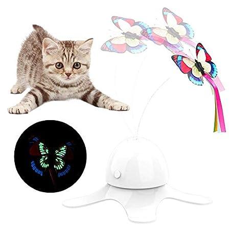 Katzenspielzeug Bälle, Interactive Automatische Selbst Rotating Rollen Kitten Spielzeug Bälle for Katzenspielzeug wiederaufladbare LED-Licht Unterhaltung Cat Ball Pet Gymnastikbälle Interactive Hausti