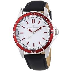 Tom Tailor Herren-Armbanduhr XL Analog Quarz Leder 5412502