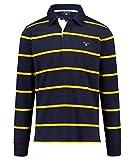 GANT Herren Poloshirt Breton Langarm Blue (82) XXL