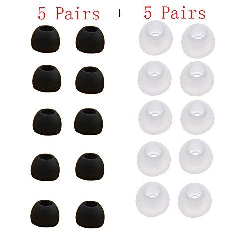 Y56 10 Paar mittlere Größe klarer Silikonersatz Ohrstöpsel Tipps für Sony Phillips