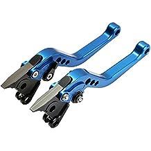 CICMOD Palanca de Freno y Embrague Corto 6-Veces Ajustables para SUZUKI GSF GSX DL GSXR GL SV – Azul