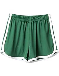 785897783 SHOBDW Las Mujeres de Moda señora de la Cintura elástica Verano sólido  hasta la Rodilla cómodos Pantalones Cortos Deportivos Pantalones…