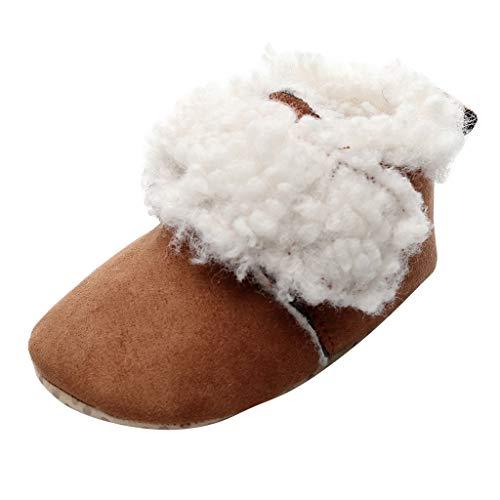 Zolimx Babyschuhe Winter Kleinkind Baby Mädchen Jungen Netter Leopard Warme Stiefel Booties Schuhe Infant Plus samt Warme Anti-Skischuhe Baumwollstiefel Baumwollschuhe