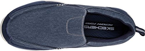 Skechers Expected-Tomen, Mocassini Uomo Blu navy