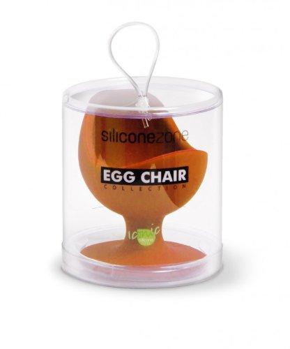 Brainstream Egg Chair in Klarsicht-Geschenkbox, Eierbecher, Eierhalter, Orange, A001560