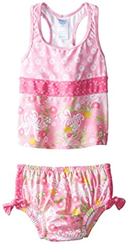 I Play Mix And Match Ultimate Swim Nappy Tankini Set Mail 713071-220-45 Set de 2 Couches Fille Lumière Jardin de Maman Rose 24 Mois