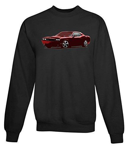 Billion Group | Sports Red | American Motor Cars | Women's Unisex Sweatshirt Noir