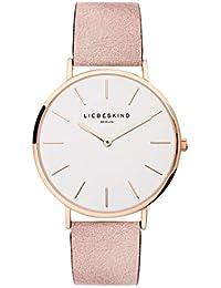 LIEBESKIND BERLIN Unisex Erwachsene Analog Quarz Uhr mit Leder Armband LT-0157-LQ