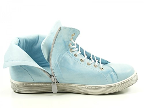 Andrea Conti 0341500 Schuhe Damen Halbschuhe Sneaker High Top Blau
