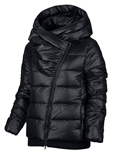 Nike Women's Sportswear Puffer Down Jacket Black Cool Grey 854767 065 - Nike Track Jacket Frauen