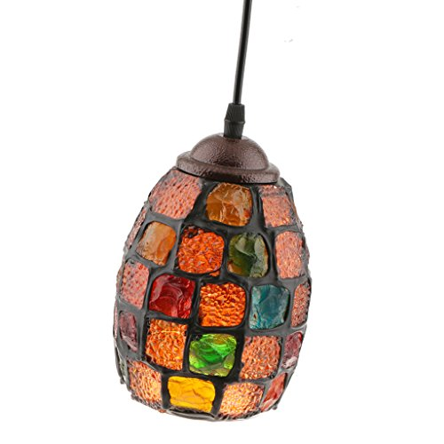 Sharplace Multicolour Turkish Moroccan Mosaic Style Hanging Light Lamp Lampshade Hand Made Craft #1