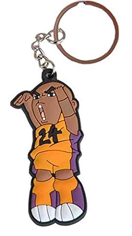 novogifts en caoutchouc pro NBA Basketball Player Mini Poupée Porte Clé, Dunk Kobe