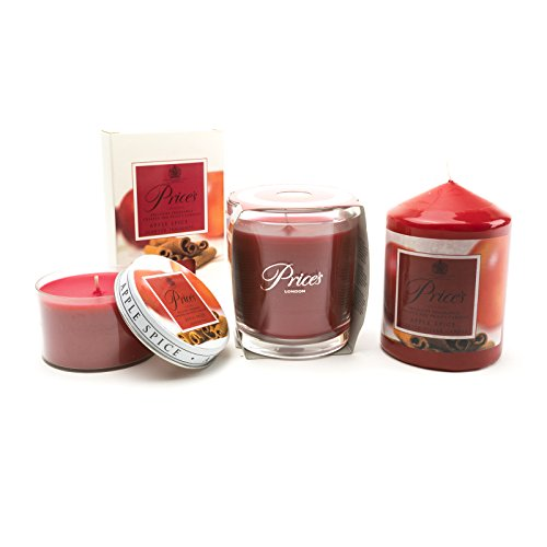 Prezzi Apple Profumo Di Natale Spice Jar Candle, Candela Pilastro, Tin Candela tealight e set