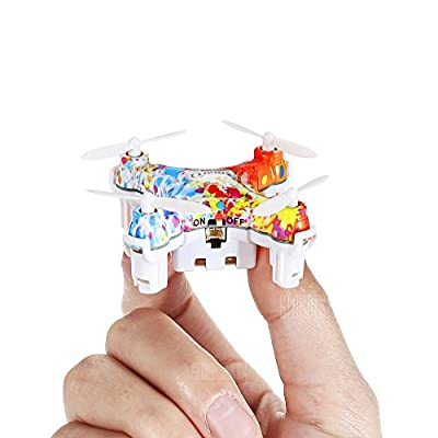 2.4GHz Colorful Mini RC Quadcopter Drone Christmas Gifts, Pocket Nano Helicopters, Intelligent Fixed Altitude, 3D Flip, One-Key Take Off / Landing, 3 Flying Modes, Remote Control Drone with LED Light