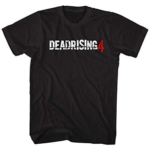 American Classics Dead rising 4 logo survival-horror-videospiel-zombie-angriff T-shirt für Herren XXXX-Groß Schwarz -
