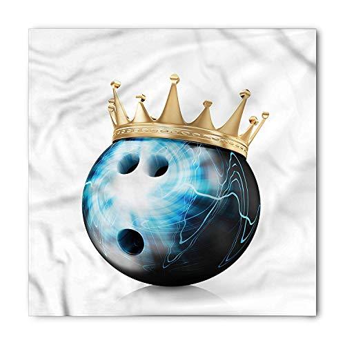 Bandana, Ball with Crown, Unisex Bandana Head and Neck Tie Neckerchief Headdress Silk-Like 100% Polyester ()