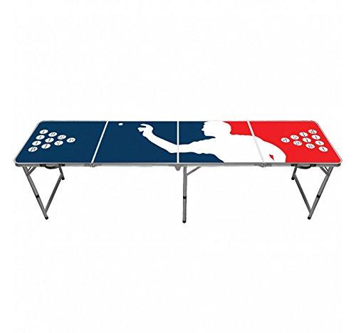 Beer-Pong-Tisch-Player Offizieller Player Beer Pong Tisch | Premium Qualität | Offizielle Wettkampfmaße | Beer Pong Table | Kratz und Wassergeschützt | Stabil | Partyspiele | Trinkspiele | House Party | 100% Spaß -