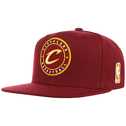 Mitchell & Ness Cleveland Cavaliers Circle Patch Team Snapback Casquette, burgundy
