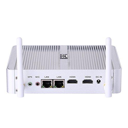 Desktop Computer Fanless Mini PC with Intel Quad Core N3150 Partaker B5 WiFi 300Mbps Barebone System