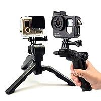 CoverZone GoPro Tripod Stand Katlanır Aksiyon Kamera EL MONOPOD STAND 2İN1 Siyah