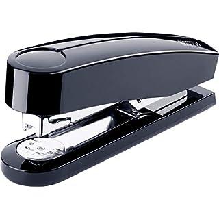Novus B 4 Heftgerät (40 Blatt, Vollmetall-Hefter mit glänzender Kunststoffummantelung, inkl. 200 Heftklammern) schwarz