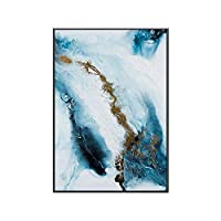 Homeofying Nordic Wall Posters & Prints Wall Paintings Blue Abstract Canvas Painting Background Wall Art Living Room Bedroom Decor 2# 50 * 70cm