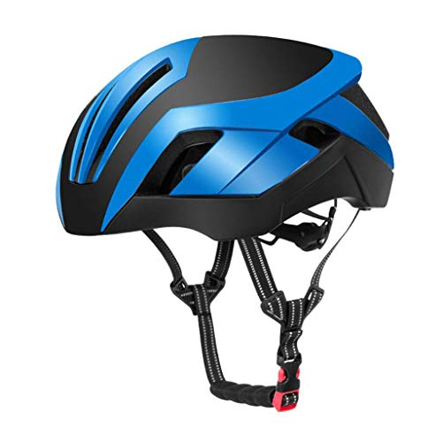 Preisvergleich Produktbild Helm Fahrrad Helm,  Rennrad-Mountainbike-Helm Einstellbar Licht Gewicht Specialized Men Women Pneumatic Helm Bike Racing Schutzkappe (Farbe : Blau)